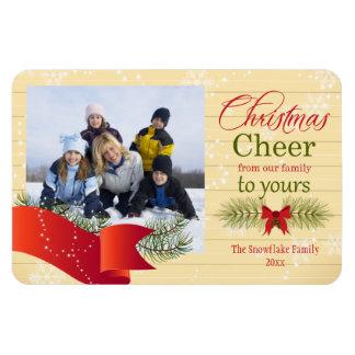 Christmas cheer pine Christmas holiday photo Magnet