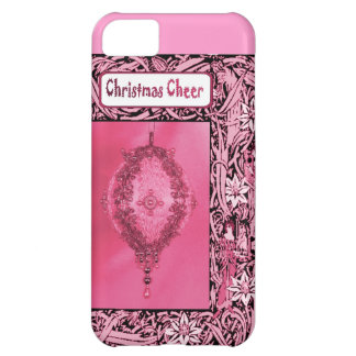 Christmas cheer, pink bauble case for iPhone 5C