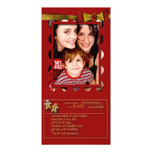 Christmas Cheer Recipe Photo Cards
