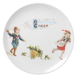 Christmas Cheer Snowball Toss Plates