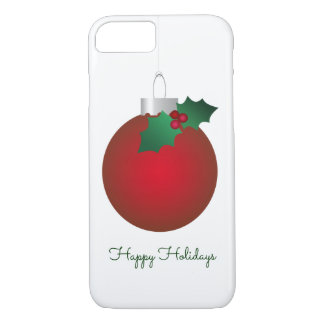 Christmas Cheer Vintage Red Ornament Bauble iPhone 7 Case