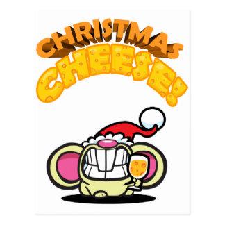 Christmas CHEESE! Postcard