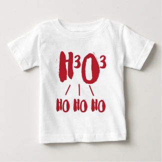 Christmas Chemical Formula H3 O3 Ho Ho Ho Chemist Baby T-Shirt