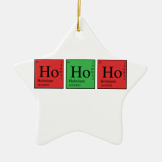 Christmas Chemistry Ceramic Ornament