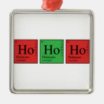 Christmas Chemistry Metal Ornament