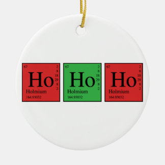 Christmas Chemistry Double-Sided Ceramic Round Christmas Ornament