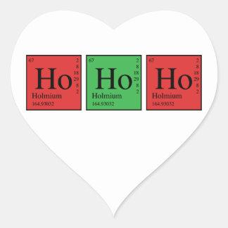 Christmas Chemistry Heart Sticker