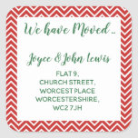 """christmas Chevron Change of Address Stickers<br><div class=""""desc"""">Change of address,  we have moved stickers whimsical</div>"""