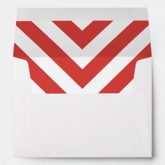 Christmas Chevron Envelope with Return Address