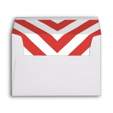Christmas Themed Christmas Chevron Envelope with Return Address