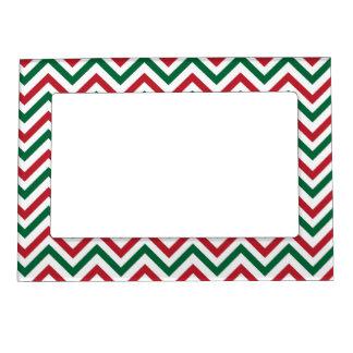 Christmas Chevron Magnetic Photo Frame