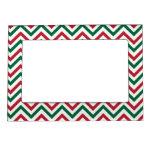 Christmas Chevron Magnetic Photo Frames
