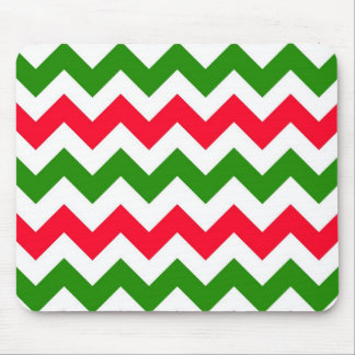 Christmas Chevron Mouse Pad