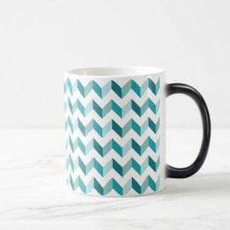 Christmas Chevron Pattern Magic Mug
