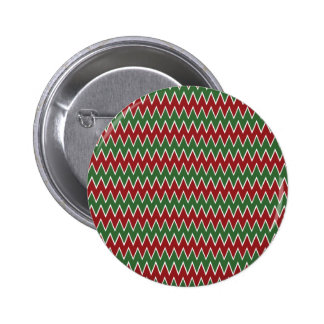 Christmas Chevron Red and Green Zigzag Pattern Pin