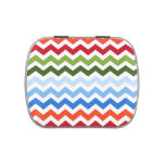 Christmas Chevrons pattern Jelly Belly Tin