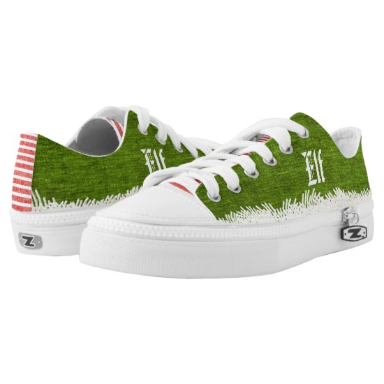 Christmas Chic Elf Costume Green Holiday Fun Low-Top Sneakers