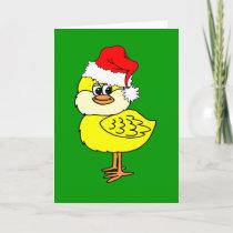 Christmas chick holiday card