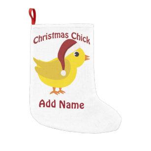 christmas chick small christmas stocking