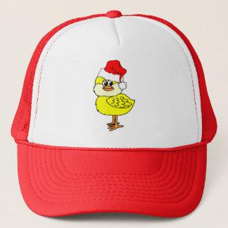 Christmas chick trucker hat