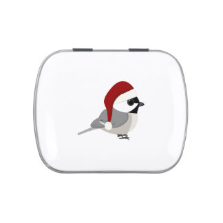 Christmas Chickadee Jelly Belly Candy Tins