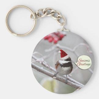 Christmas Chickadee Keychain
