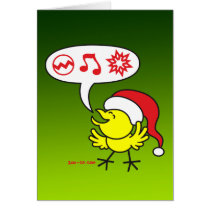 Christmas Chicken making a Wish Card