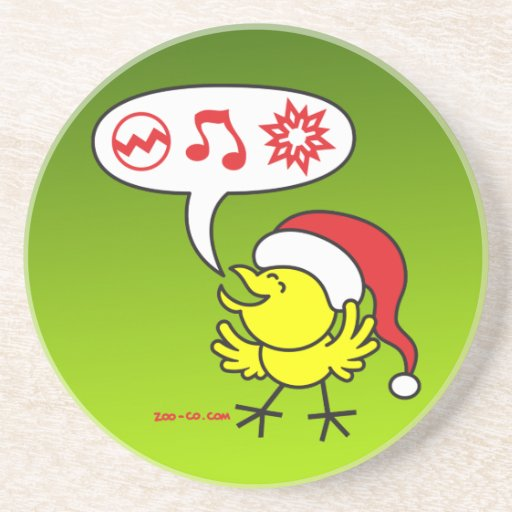 Christmas Chicken making a Wish Coasters