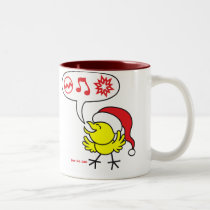 Christmas Chicken making a Wish Two-Tone Coffee Mug