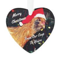 Christmas Chicken Ornament
