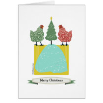 Christmas chickens w tree inside patterns/art.v2 card