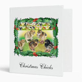 Christmas Chicks 3 Ring Binder