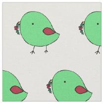 Christmas chicks fabric
