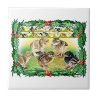 Christmas Chicks Tile