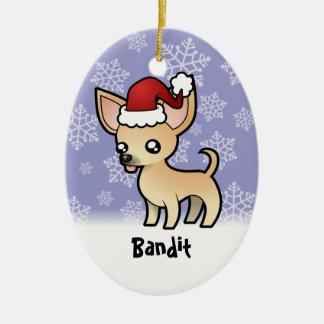 Christmas Chihuahua (add your pets name) Christmas Tree Ornament