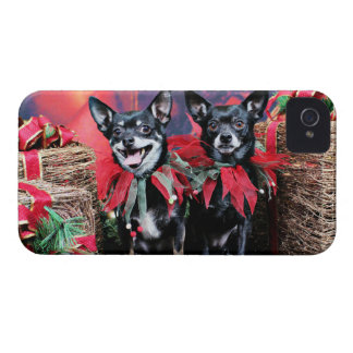 Christmas - Chihuahua - Bandit and Dee Dee iPhone 4 Cover