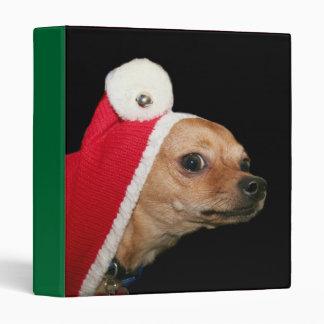 Christmas Chihuahua binder