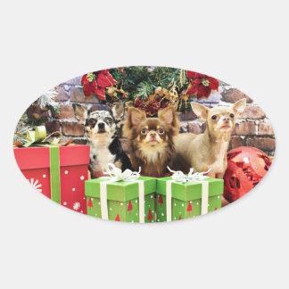 Christmas - Chihuahua - Blue - Precious - Yogi Stickers