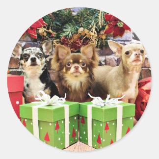Christmas - Chihuahua - Blue - Precious - Yogi Sticker
