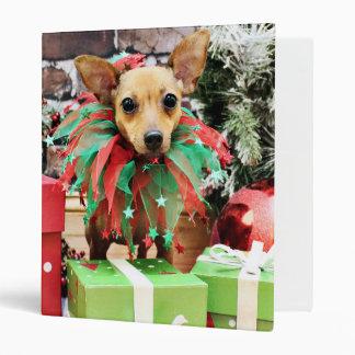 Christmas - Chihuahua - Daisy Vinyl Binders