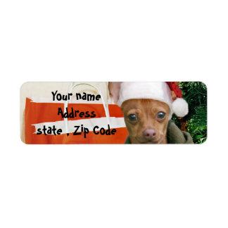 Christmas chihuahua dog label