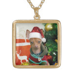 Christmas chihuahua dog necklace