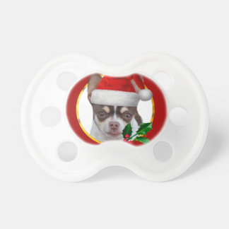 Christmas Chihuahua dog Pacifier