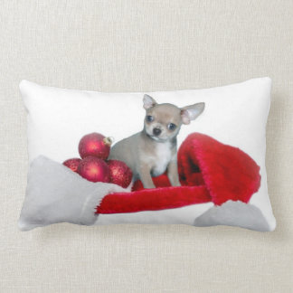 Christmas Chihuahua dog Throw Pillows