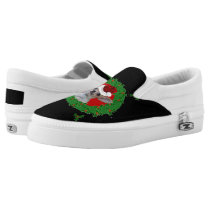 Christmas Chihuahua dog Slip-On Sneakers