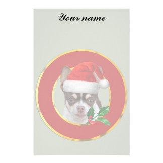 Christmas chihuahua dog stationery