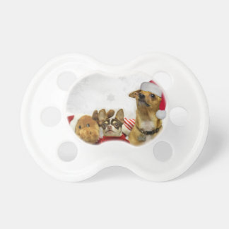 Christmas chihuahua dogs pacifier