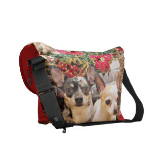 Christmas - Chihuahua - Gordy and Pedro Courier Bag