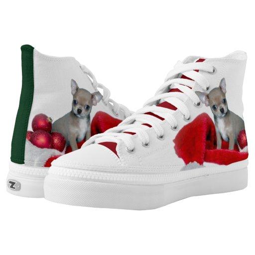 chihuahua high top tennis shoes printed shoes