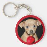 Christmas Chihuahua Key Chain